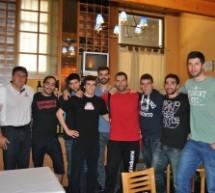 Reunión en Pamplona con los jugadores del S.C.D.R. HELVETIA ANAITASUNA.
