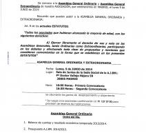 Convocada la Asamblea General de la ASOCIACIÓN DE JUGADORES DE BALONMANO.