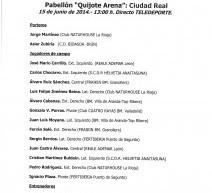 COMBINADO A.J.BM. para el Partido de las Estrellas-Trofeo BANCO POPULAR 2014