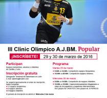 """Inscribe a tu equipo benjamín, alevín o infantil en el """"III Clínic A.J.BM. Banco Popular"""". León 2016."""