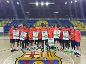 """Los jugadores del F.C. Barcelona-LASSA también se unen a la campaña: """"Protege tu integridad"""" – """"Protect Integrity"""""""