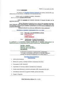 Convocatoria Valladolid