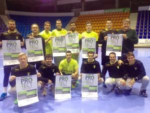 """Los jugadores de la S.C.D.R. Helvetia ANAITASUNA y del Club BADA BM. Huesca también se unen a """"Protect Integrity"""""""