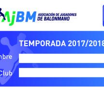 En marcha el carnet de asociado ASOBAL – A.J.BM. 2017-2018.