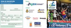 """No te quedes sin plaza ! El próximo lunes, 11 de marzo, se abre el periodo de inscripción:  Campus A.J.BM. """"SORIA 2019"""" y Campus A.J.BM. """"ÍSCAR (Valladolid) 2019"""""""