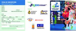 La A.J.BM. solicitará la Residencia Deportiva de Íscar y el Albergue Deportivo de Sepúlveda (Segovia) para el 43º Campus de Balonmano AJBM: desde el 12 al 19 de julio de 2020.