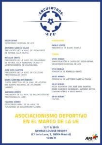 """A.J.BM. participará en la tercera sesión de """"ENCUENTROS AFE"""""""